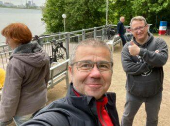 Müllsammeln Seebrücke Frank und Tilo